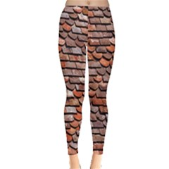 Roof Tiles On A Country House Leggings