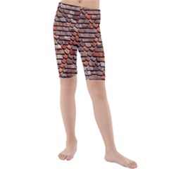 Roof Tiles On A Country House Kids  Mid Length Swim Shorts
