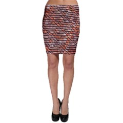 Roof Tiles On A Country House Bodycon Skirt