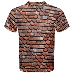 Roof Tiles On A Country House Men s Cotton Tee