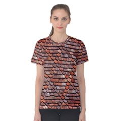 Roof Tiles On A Country House Women s Cotton Tee