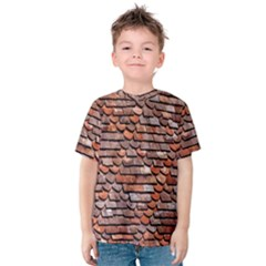 Roof Tiles On A Country House Kids  Cotton Tee