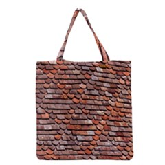Roof Tiles On A Country House Grocery Tote Bag