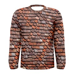 Roof Tiles On A Country House Men s Long Sleeve Tee