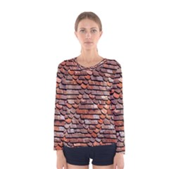 Roof Tiles On A Country House Women s Long Sleeve Tee