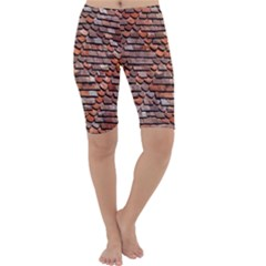 Roof Tiles On A Country House Cropped Leggings
