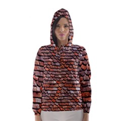 Roof Tiles On A Country House Hooded Wind Breaker (women)