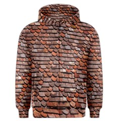Roof Tiles On A Country House Men s Zipper Hoodie