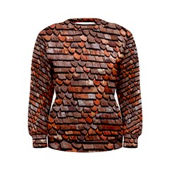 Roof Tiles On A Country House Women s Sweatshirt