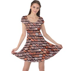 Roof Tiles On A Country House Cap Sleeve Dresses