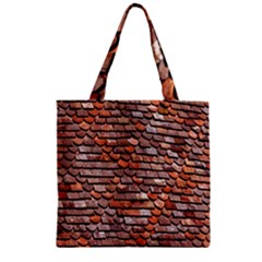 Roof Tiles On A Country House Zipper Grocery Tote Bag