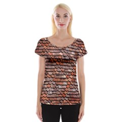 Roof Tiles On A Country House Women s Cap Sleeve Top