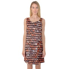 Roof Tiles On A Country House Sleeveless Satin Nightdress