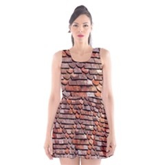 Roof Tiles On A Country House Scoop Neck Skater Dress