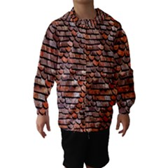 Roof Tiles On A Country House Hooded Wind Breaker (Kids)