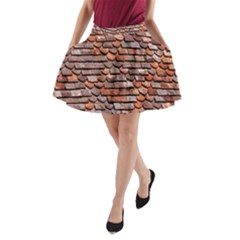Roof Tiles On A Country House A Line Pocket Skirt