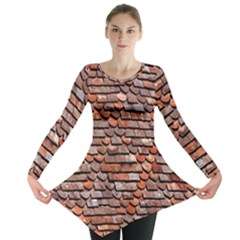 Roof Tiles On A Country House Long Sleeve Tunic