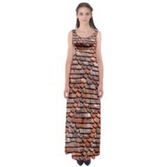 Roof Tiles On A Country House Empire Waist Maxi Dress