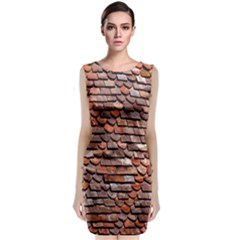 Roof Tiles On A Country House Classic Sleeveless Midi Dress