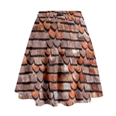 Roof Tiles On A Country House High Waist Skirt
