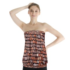 Roof Tiles On A Country House Strapless Top