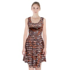 Roof Tiles On A Country House Racerback Midi Dress
