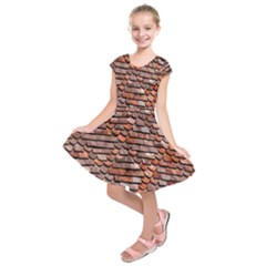 Roof Tiles On A Country House Kids  Short Sleeve Dress