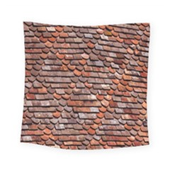 Roof Tiles On A Country House Square Tapestry (small)
