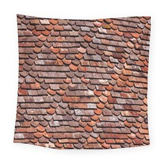 Roof Tiles On A Country House Square Tapestry (large)