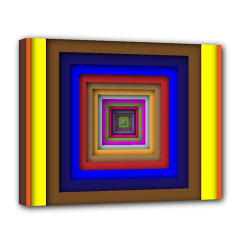 Square Abstract Geometric Art Canvas 14  X 11