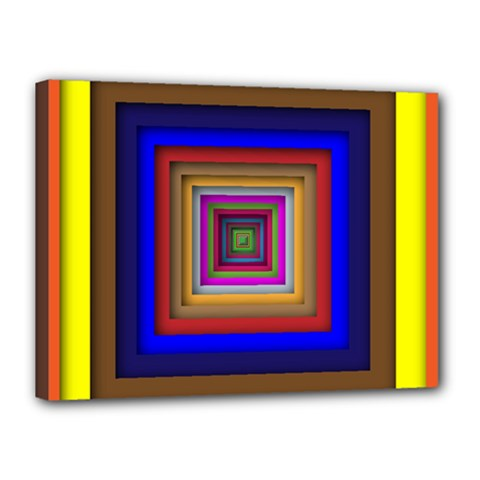 Square Abstract Geometric Art Canvas 16  X 12