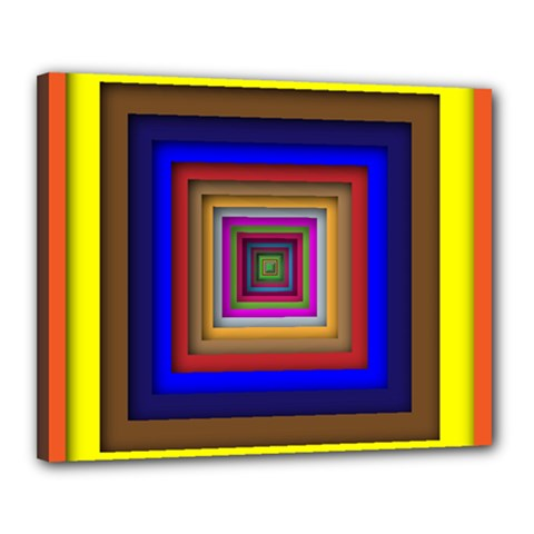 Square Abstract Geometric Art Canvas 20  X 16