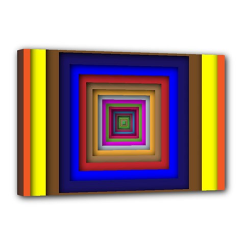 Square Abstract Geometric Art Canvas 18  X 12
