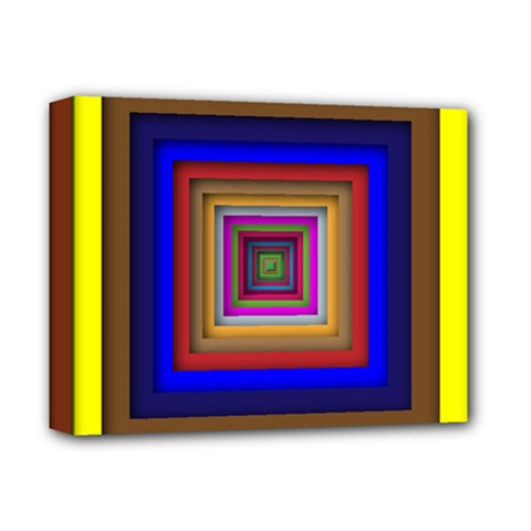Square Abstract Geometric Art Deluxe Canvas 14  X 11