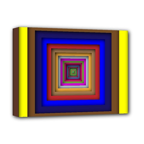 Square Abstract Geometric Art Deluxe Canvas 16  x 12
