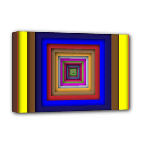 Square Abstract Geometric Art Deluxe Canvas 18  X 12