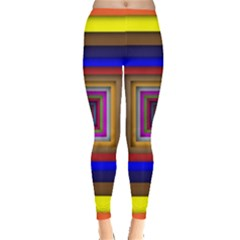 Square Abstract Geometric Art Leggings