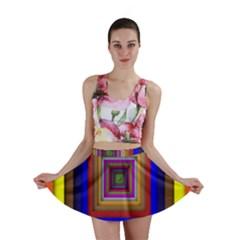 Square Abstract Geometric Art Mini Skirt