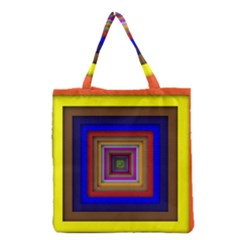 Square Abstract Geometric Art Grocery Tote Bag