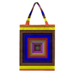 Square Abstract Geometric Art Classic Tote Bag