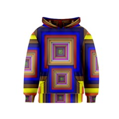 Square Abstract Geometric Art Kids  Pullover Hoodie
