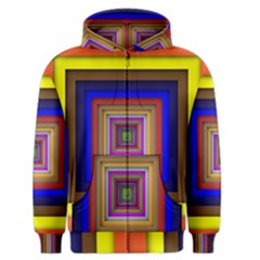 Square Abstract Geometric Art Men s Zipper Hoodie