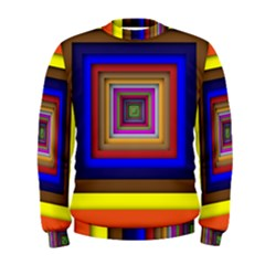 Square Abstract Geometric Art Men s Sweatshirt