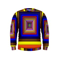 Square Abstract Geometric Art Kids  Sweatshirt