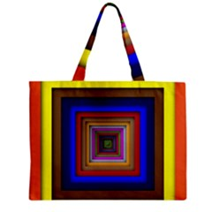 Square Abstract Geometric Art Zipper Mini Tote Bag