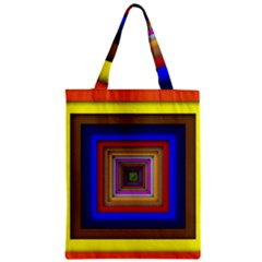 Square Abstract Geometric Art Zipper Classic Tote Bag
