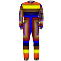 Square Abstract Geometric Art Onepiece Jumpsuit (men)