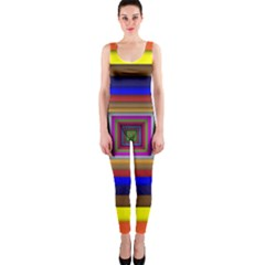 Square Abstract Geometric Art Onepiece Catsuit