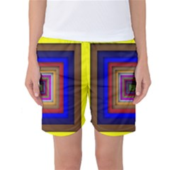 Square Abstract Geometric Art Women s Basketball Shorts