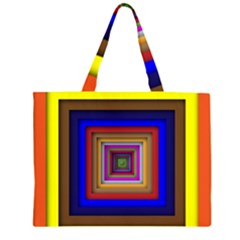 Square Abstract Geometric Art Large Tote Bag